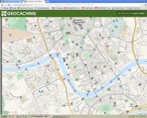 mapa skrtyek w Krakowie